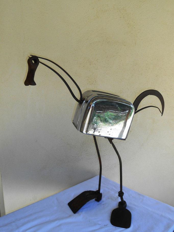 Oiseau  h 70 cm l 45 cm disponible