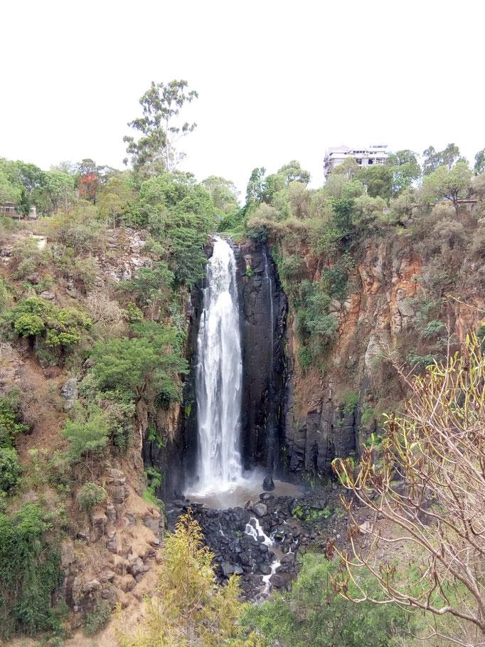 "The world famous ""Thomson Falls"" in Nyahururu"