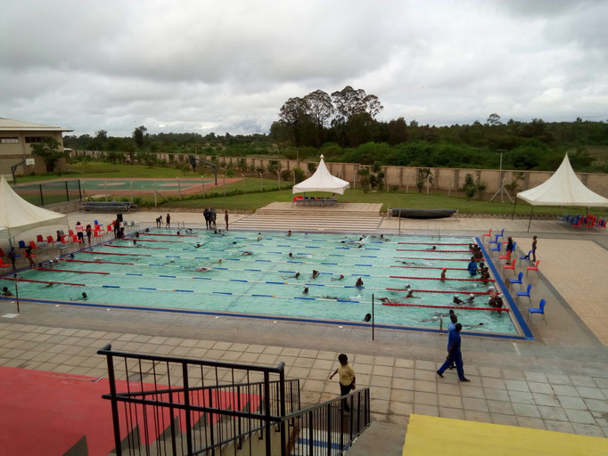 Swimming Gala. More of a Kidz swimming event, but was fun anyways. Gold medals included ;-)