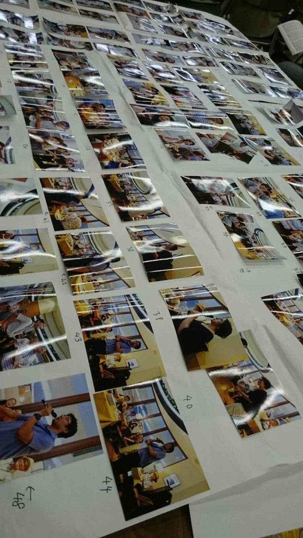 団員が撮影した合宿から演奏会当日までの大量の写真、注文を募る