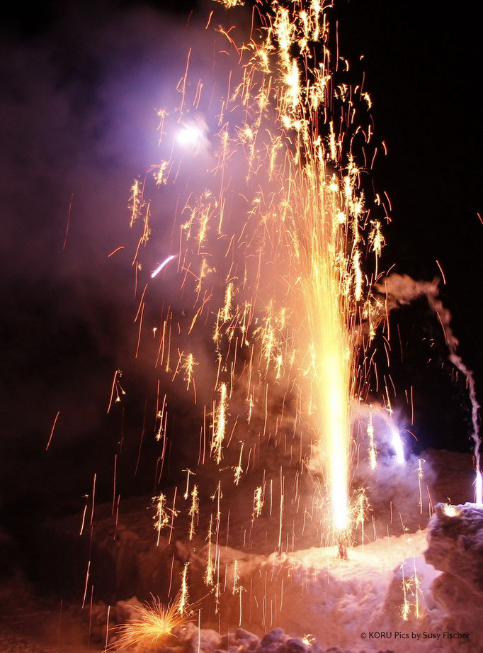 Feuerwerk, Axalp, Brienz, Schweiz