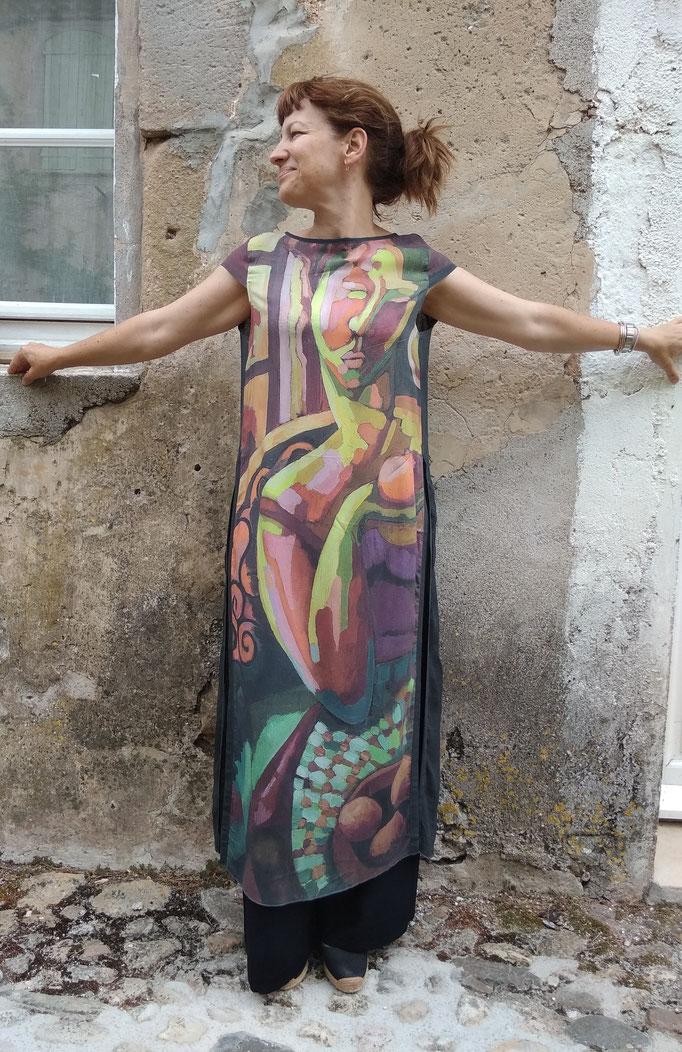 robe longue fendue femme àla pomme