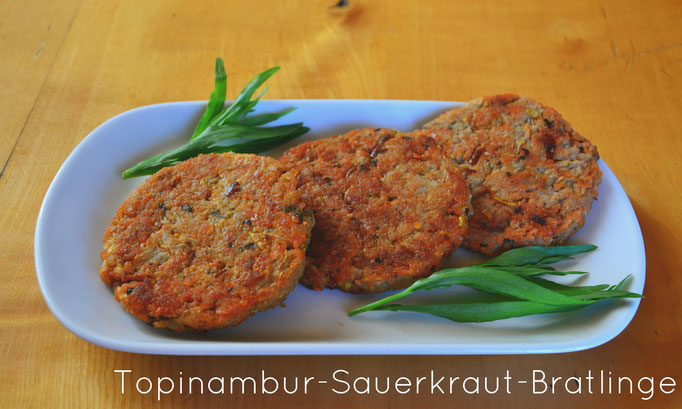Topinambur-Sauerkraut-Bratlinge