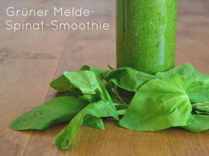 Grüner Melde-Spinat-Smoothie