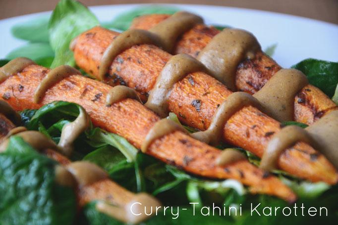 Curry-Tahini Karotten