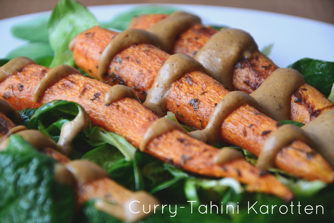 Curry-Tahini Karotten