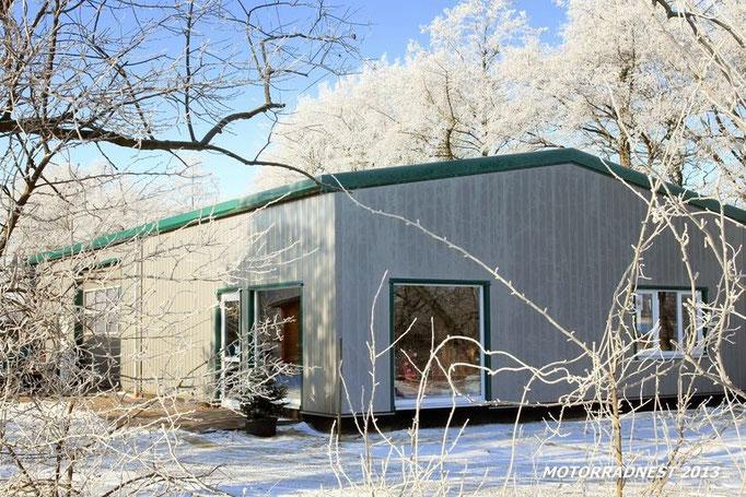 Winter im Gewerbegebiet Debstedt