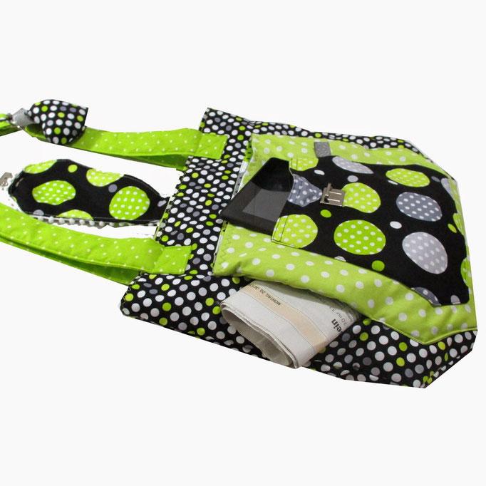 Multitasche, Farbenmix Retro Dots Gepunktet Bogentasche