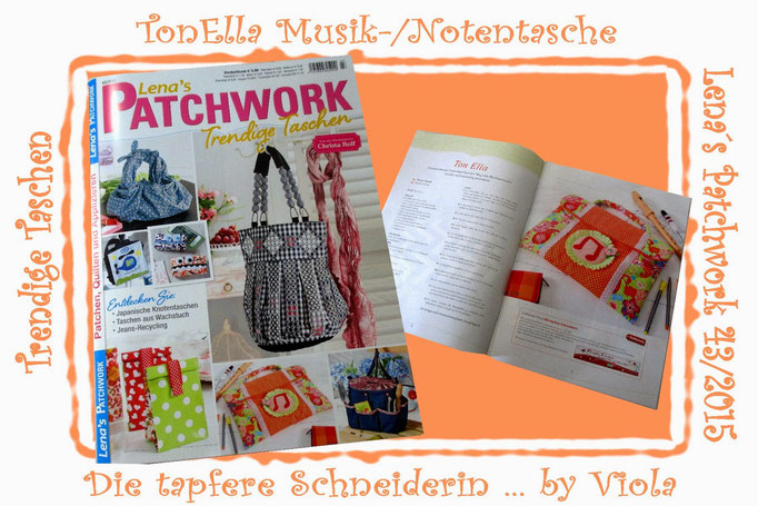 Ebook Knit-to-go Handarbeitstasche Stricken Häkeln Knooking-Bag Tonella