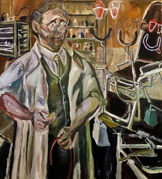 Thermocline Otto Dix, oil on canvas cm 90x100,5, 2017