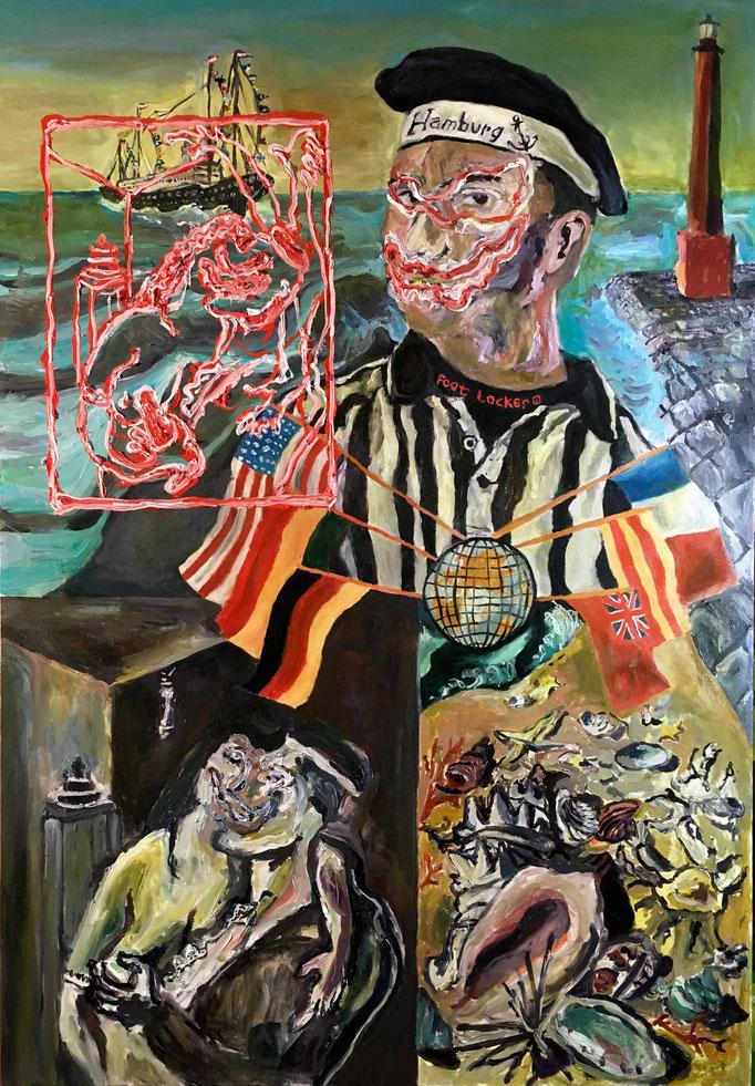 Thermocline Otto DIx, Oil on canvas cm 59x85, 2017