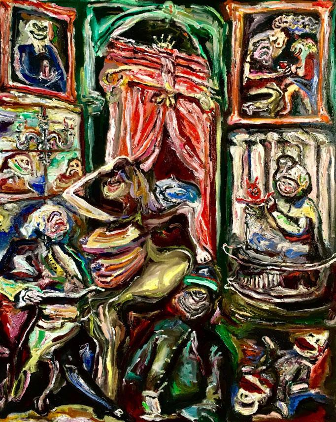 Studio d'artista (saluti da parte tua), oil on canvas cm 40x50, 2018
