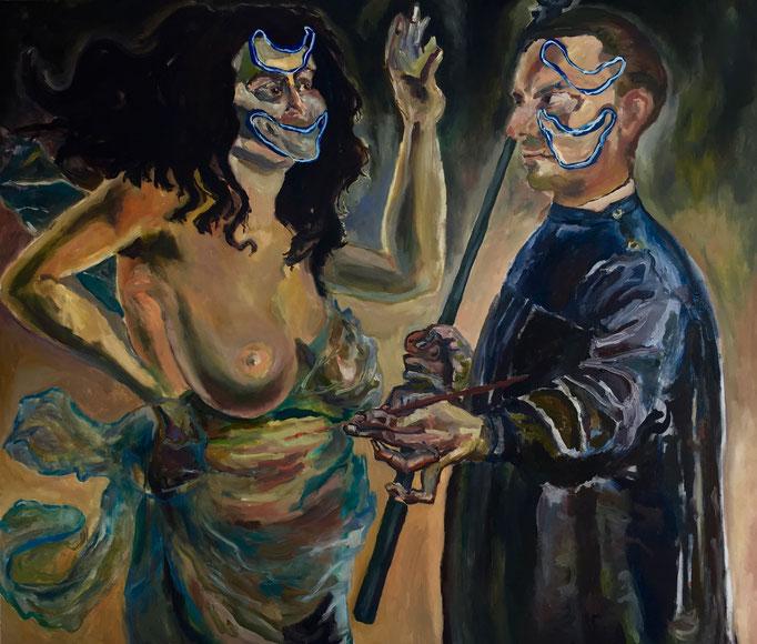Thermocline Otto Dix, oil on canvas cm 95x81, 2017