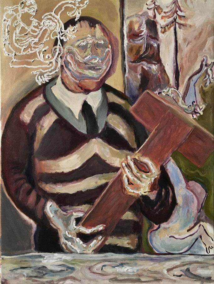 Thermocline Otto Dix, oil on canvas cm 30x40, 2017,