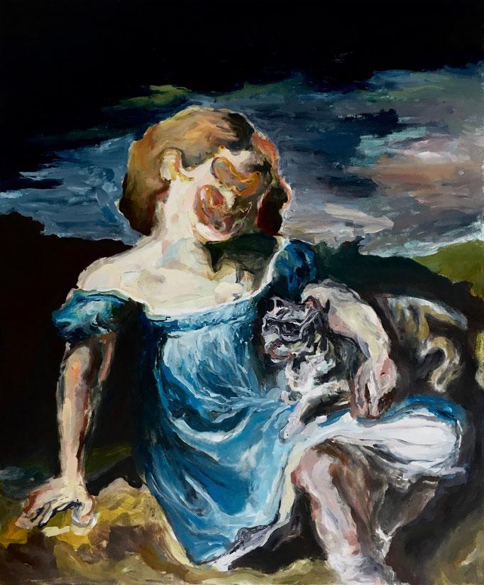 Thermocline Géricault, oil on canvas cm 50x60,2017