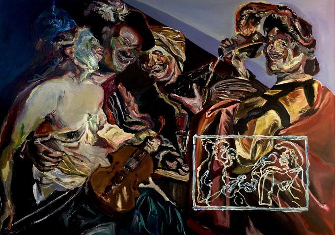 Thermocline Baburen, oil on canvas cm 108x153, 2017