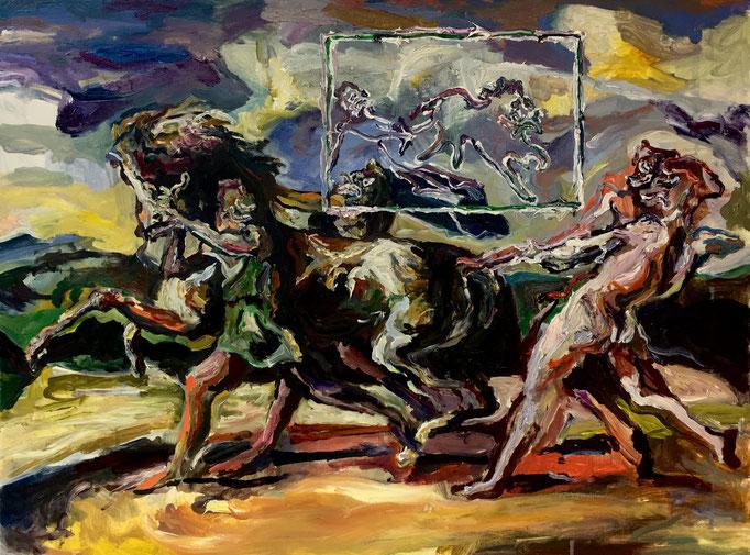 Thermocline Géricault, oil on canvas cm 45x60,2017
