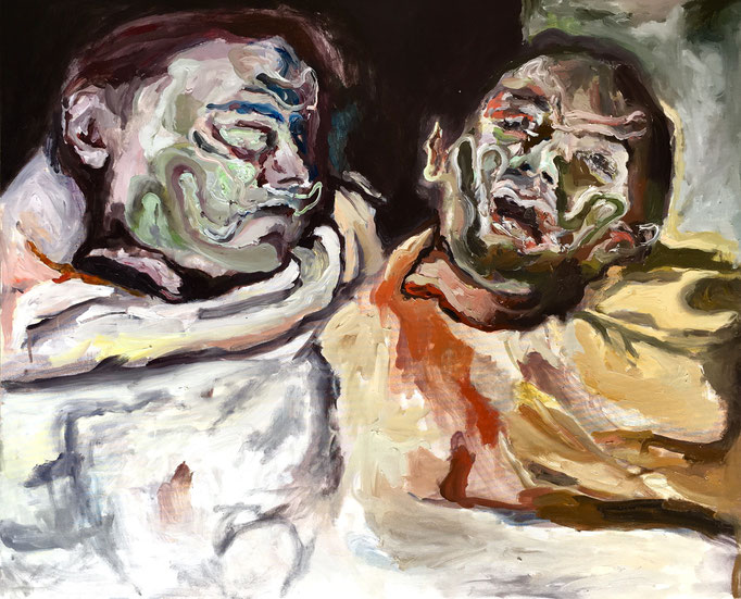 Thermocline Géricault, oil on canvas cm 50x61, 2017