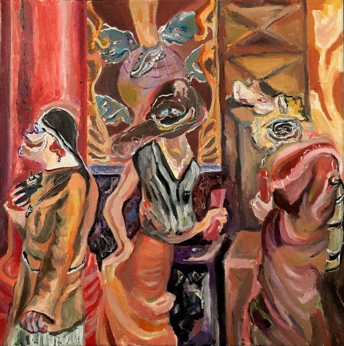 Thermocline Otto Dix, oil on canvas cm 40x40, 2016
