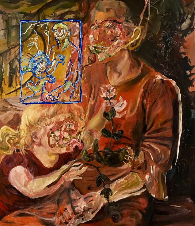 Thermocline Otto Dix, oil on canvas cm 70x81, 2017