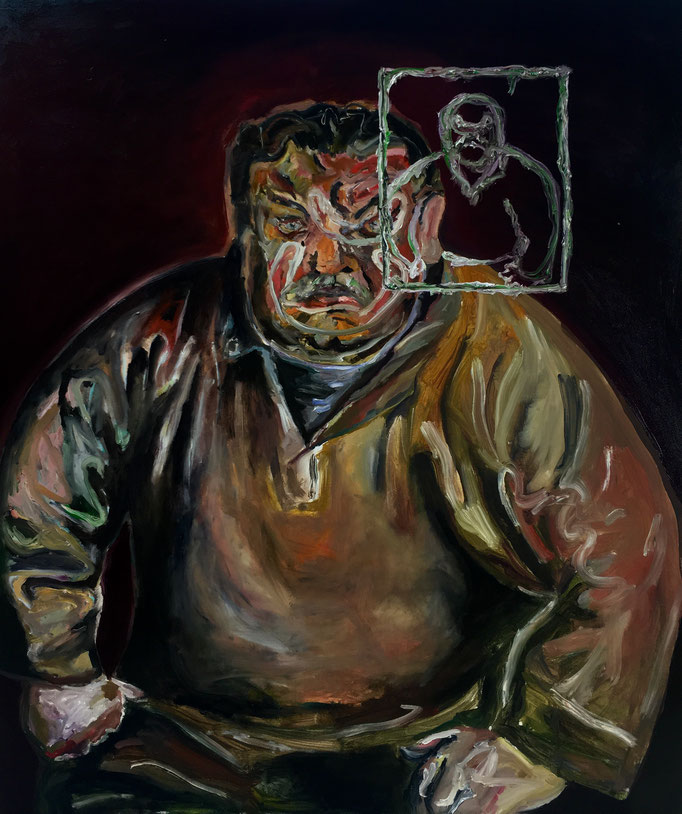 Thermocline Otto Dix (Ritratto dell'attore Heinrich George nel ruolo di Terje Wiggen), oil on canvas cm 100x85, 2018