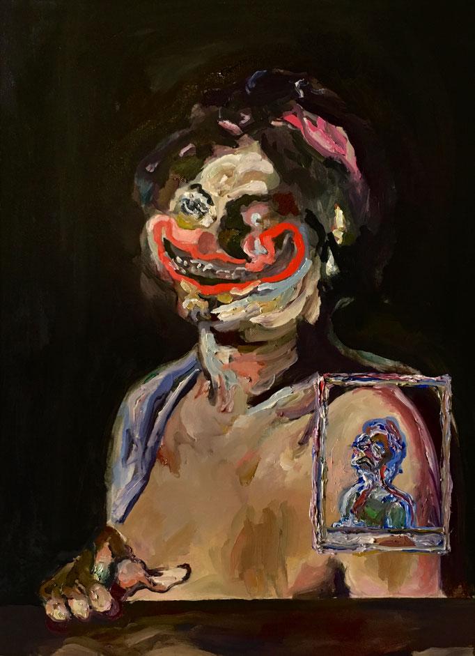 Thermocline Baburen, oil on canvas cm 48x66, 2017