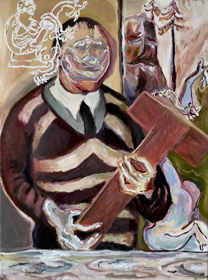 Thermocline Otto DIx, oil on canvas 30x40, 2017