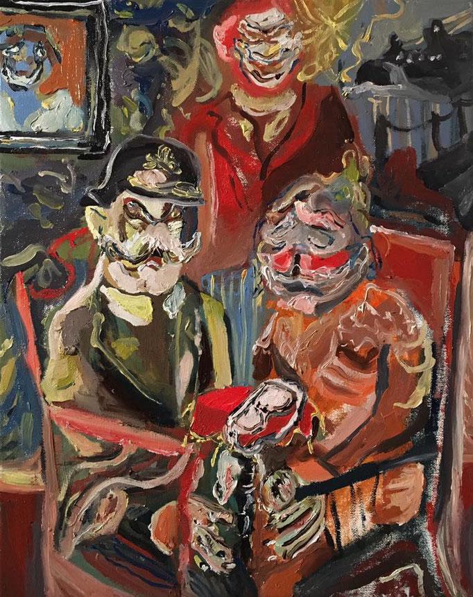 Thermocline Otto Dix, oil on canvas cm 24x30, 2016