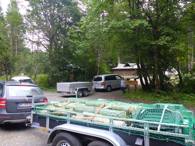 Zelten in Brunnenbachsmühle 2015