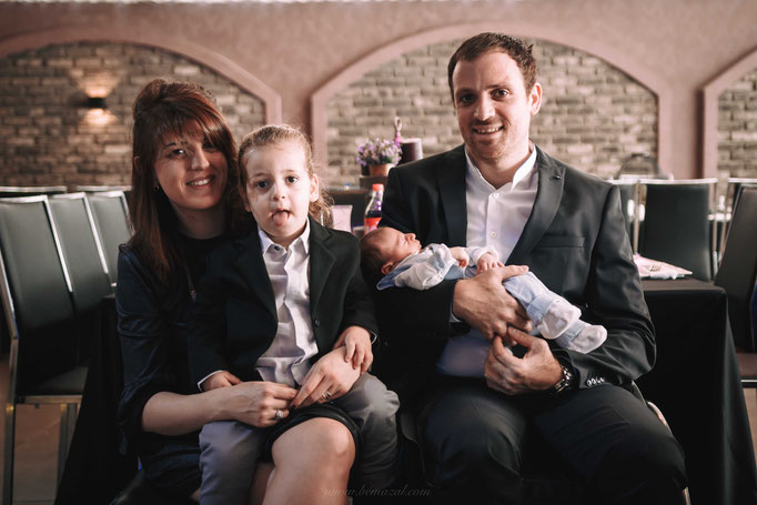 תמונה משפחתית שלפני הטקס