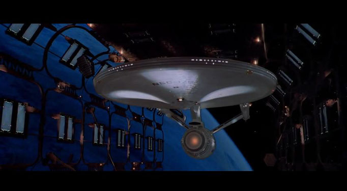 der lang inszenierte Stapellauf der Enterprise ist einer der emotionalsten, unvergesslichsten Fanmomente im Film