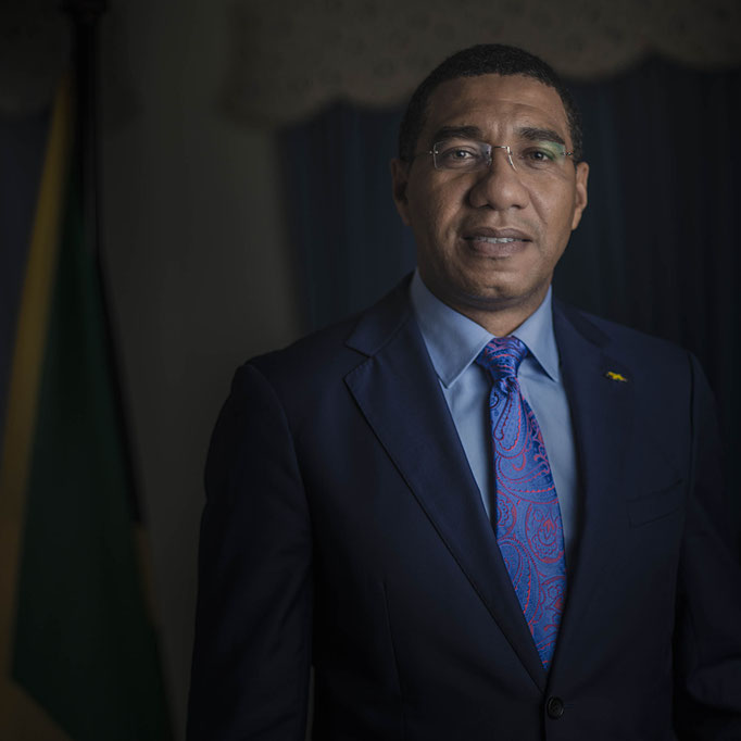 Jamaican Prime minister Andrew Holness