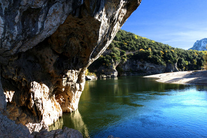 Ardèche Schlucht, Felswände, Canyon, Wildnis - Pont d'Arc