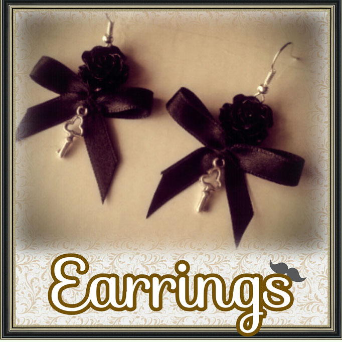 Steampunk Lolita Earrings