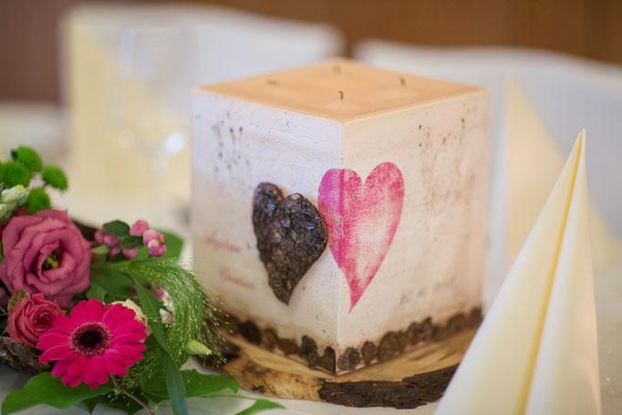 Monika Kalteis setzte die Idee auch auf der Kerze um