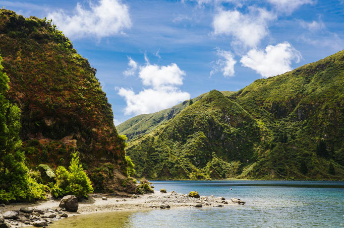 Azores - Lagoa do Fogo on Sao Miguel Island copyright  hbpro 2