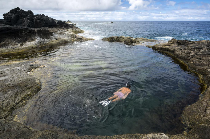 Azores - Mosteiros beach natural pool on Sao Miguel Island - Copyright  Fulcanelli
