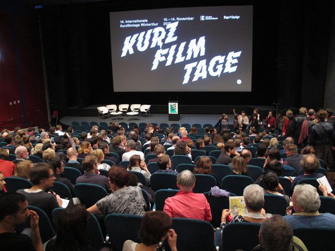 Preisverleihung int. Kurzfilmtage Winterthur