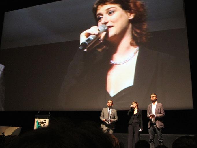 Preisverleihung int. Kurzfilmtage Winterthur   Delphine Lyner, Festivaldirektorin