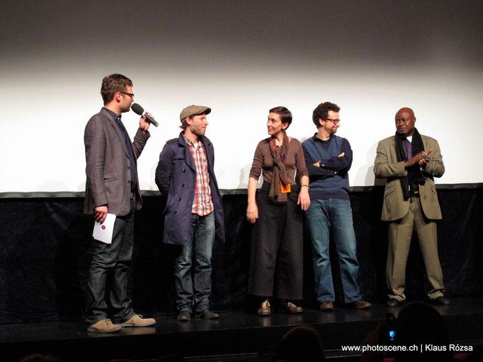 int. Kurzfilmtage Winterthur 2010  Reto Bühler, künstlerischer Direktor. Jury: vlnr. Balz Bachmann, Catherine Colas, Sergio Fant, Ardiouma Soma