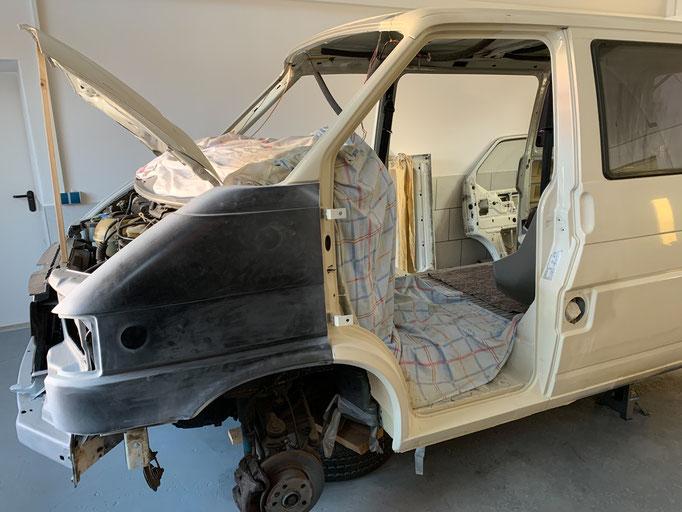VW T4 Kotflügel montiert