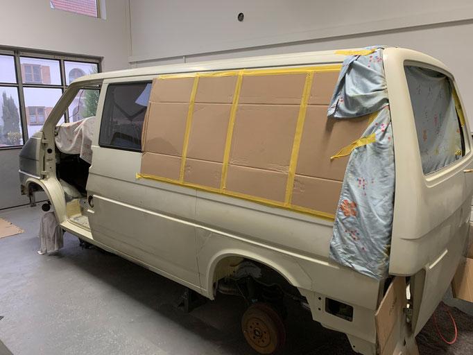 VW T4 Heckklappe grundiert