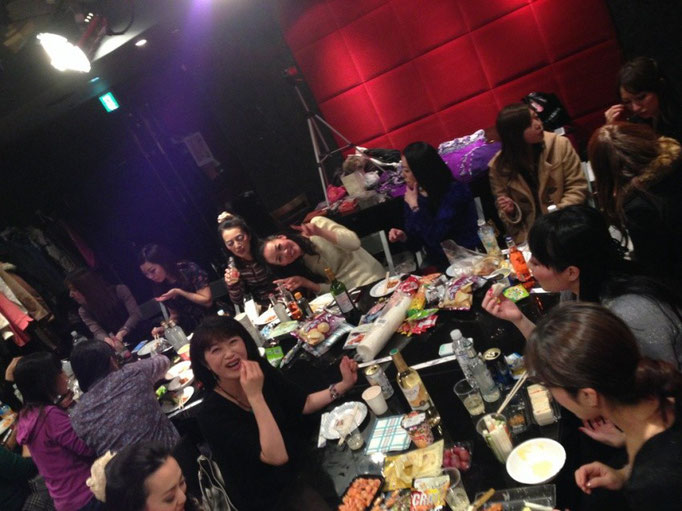 2013/12 ウィンターハフラ終了後の忘年会にて