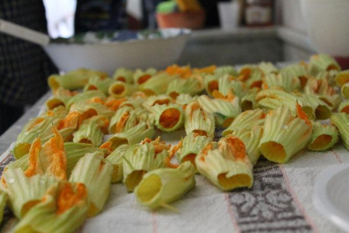 Agosto: fiori di zucca pronti per essere fritti!!!