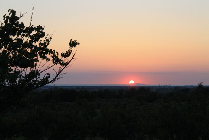 Agosto: il sole ci regala un bellissimo tramonto