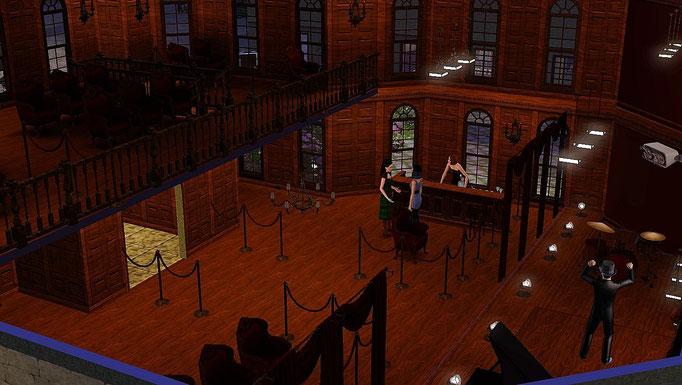 Stadttheater, Blick in den Zuschauerraum und auf die Bühne