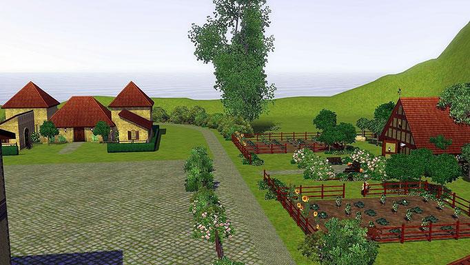 Weinchâteau und Obstgarten