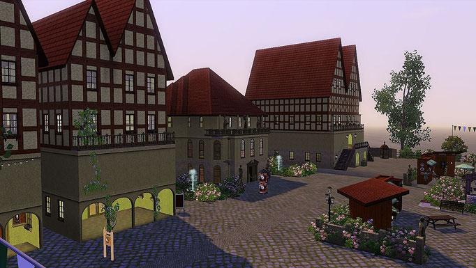 Altstadthaus mit Buchladen und Café, Theater und Bürogebäude