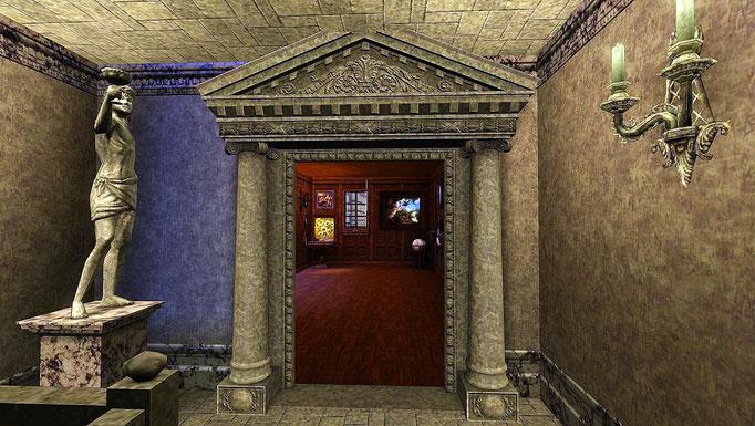Rathaus, Eingang zur Gemäldegalerie