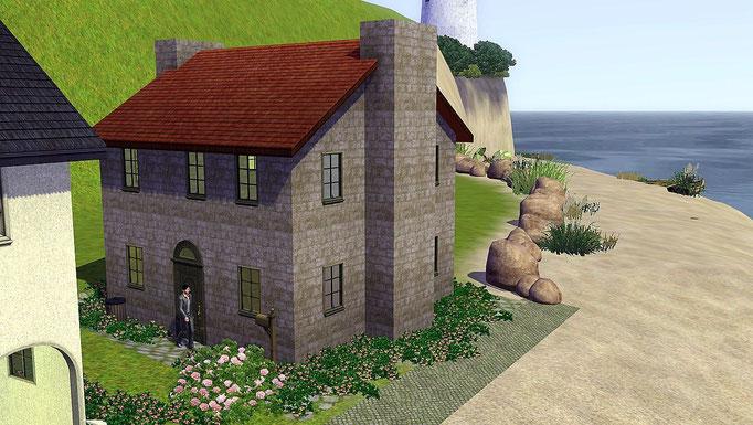 Haus an der Hafeneinfahrt